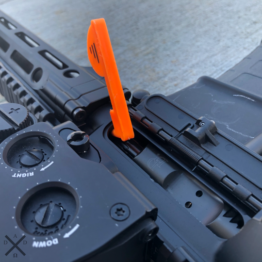Firearms Safety Post AR Chamber Flag